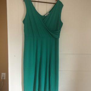 Teal green sleeveless dress